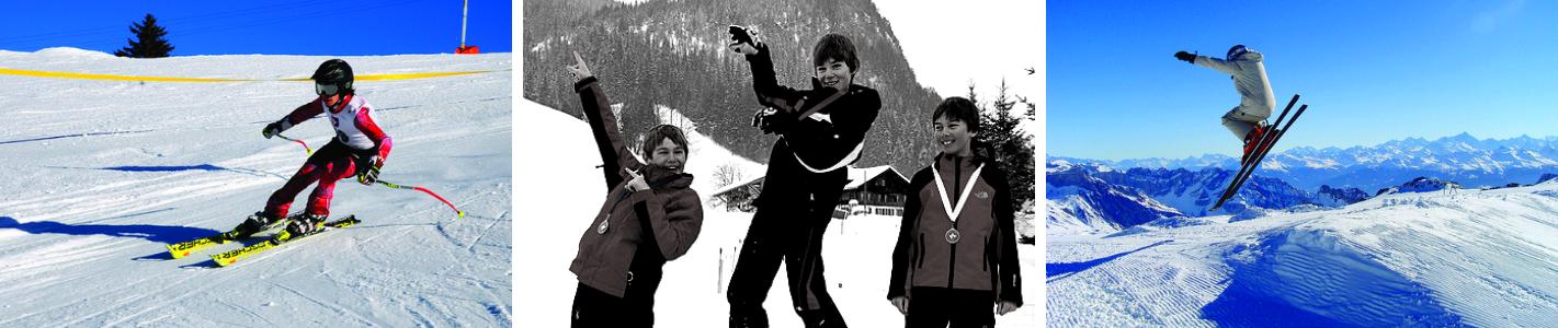 Imagini din tabere de iarna de ski si snowboard in Gstaad, Elvetia